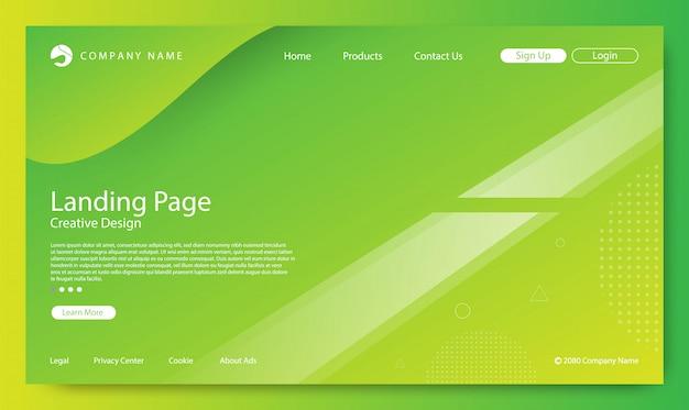 ウェブサイトのランディングページの背景 Premiumベクター