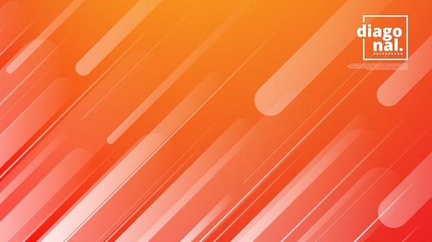 抽象的な背景と斜めの線図形の水平方向のバナー。 Premiumベクター