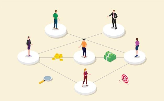 チームメンバーとの紹介アフィリエイトパートナーシッププログラム Premiumベクター