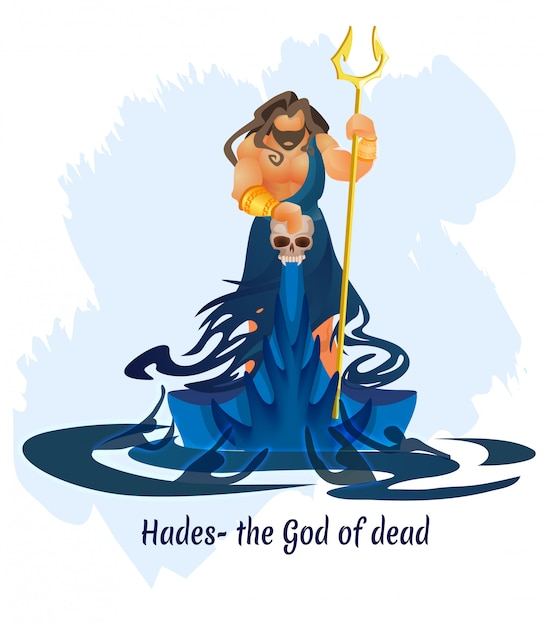 古代ギリシャの神、デッドハデスまたはエイディの王 Premiumベクター
