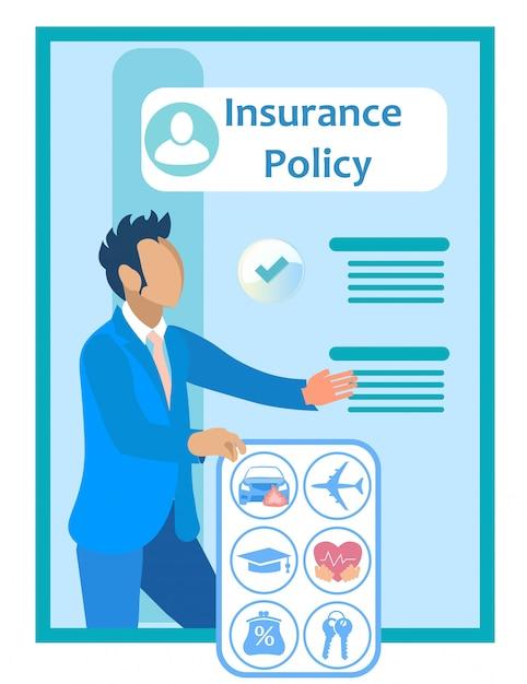 保険契約に近い保険代理店。 。 Premiumベクター