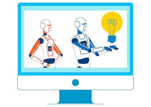 Образовательный шоу по искусственному интеллекту Premium векторы