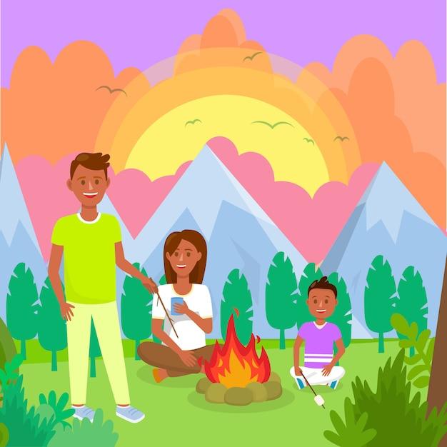 Отдых с семьей картинки рисунки