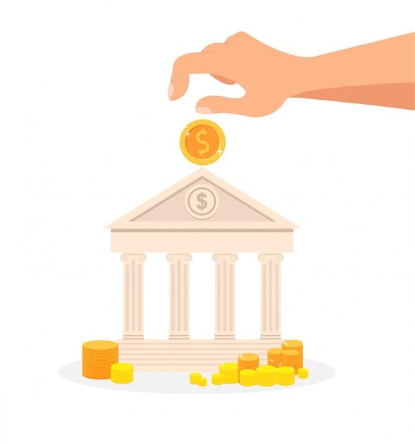 預金、銀行システムフラット Premiumベクター