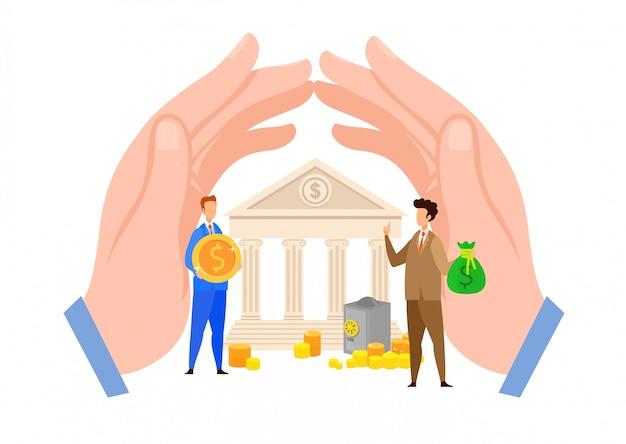 銀行クレジット、ローン支払いフラットベクトル図 Premiumベクター
