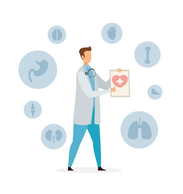 Здравоохранение и медицина плоский векторная иллюстрация Premium векторы