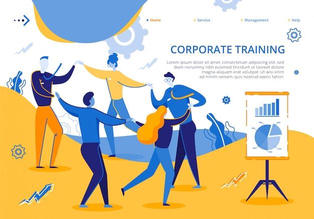 グループ会社従業員向けのコーポレートトレーニング Premiumベクター