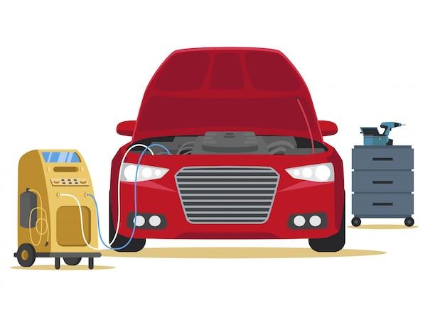 車内清掃用エアコン Premiumベクター