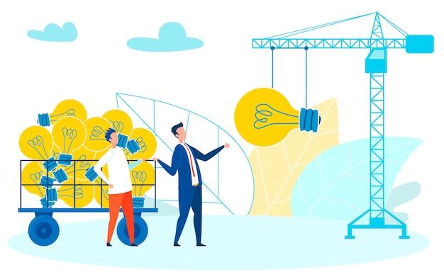 毎日、頻繁にクリエイティブなアイデアを構築する Premiumベクター
