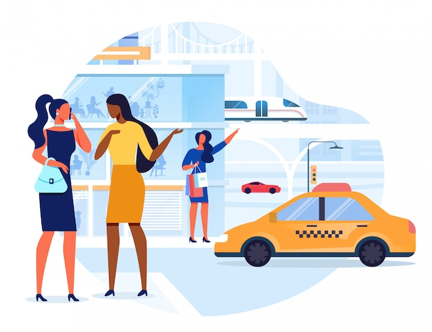 近代都市交通ベクトルイラスト Premiumベクター