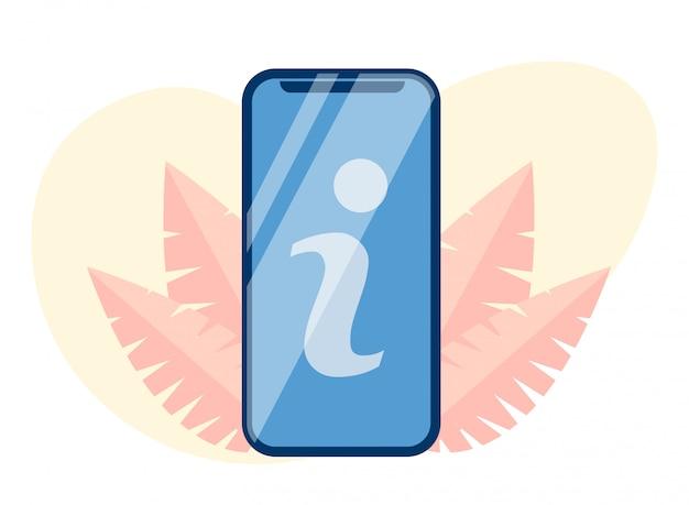 モバイル画面の切り欠きフラット漫画の文字記号私 Premiumベクター