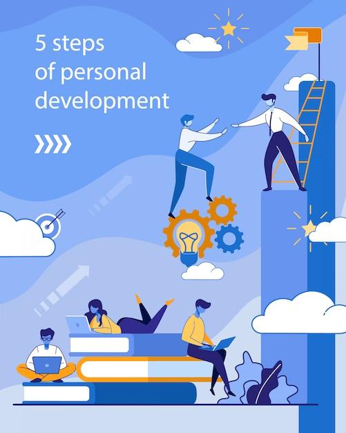 個人開発のためのパンフレット提供コース Premiumベクター
