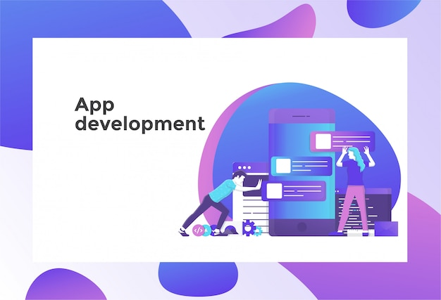 アプリ開発図 Premiumベクター