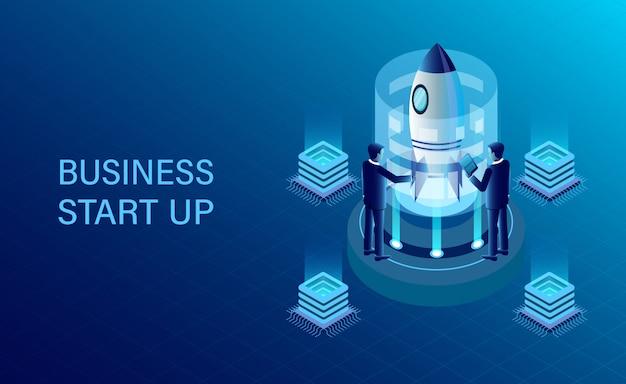 等尺性ビジネスの成功目標 Premiumベクター