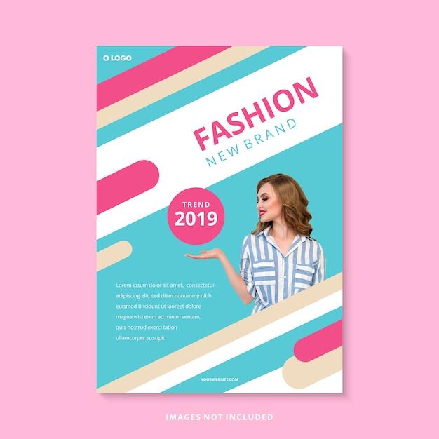 現代ファッションの新しいブランドのビジネスチラシテンプレート Premiumベクター