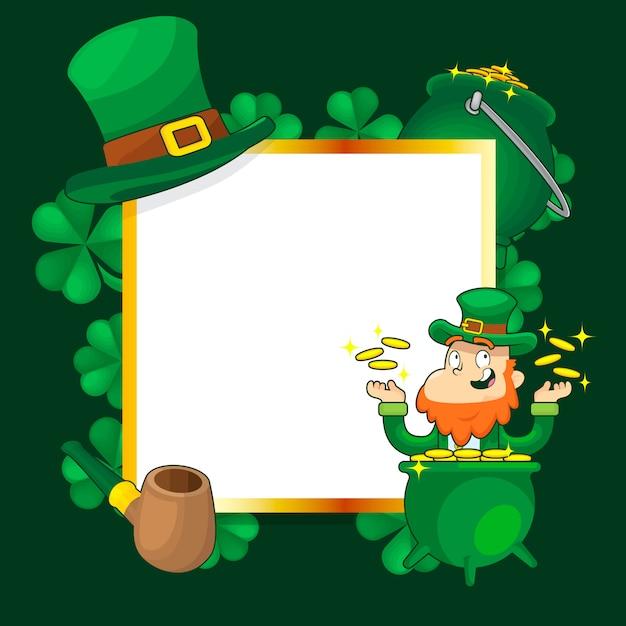 Празднование дня святого патрика в ирландии Premium векторы