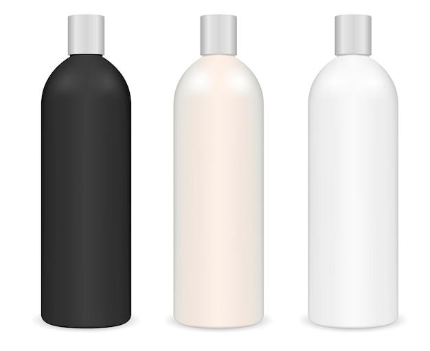 管状化粧品シャンプーボトル。シリンダーパッケージ Premiumベクター