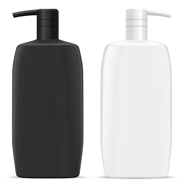 ディスペンサーポンプボトル。化粧品ヘアシャンプージャー Premiumベクター