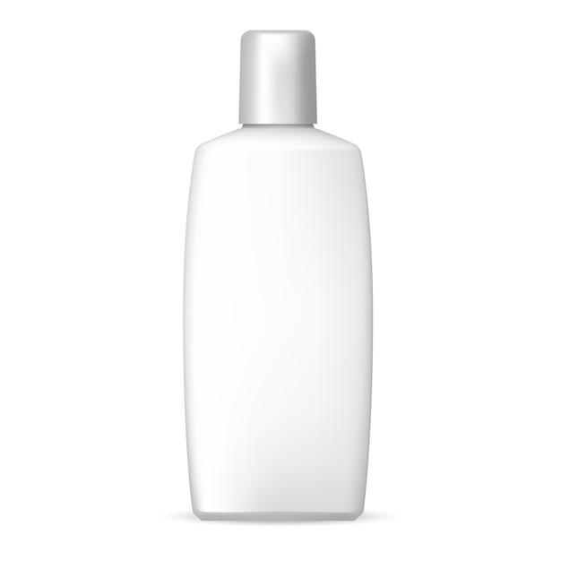 ホワイトシャンプーボトル。プラスチック化粧品 Premiumベクター
