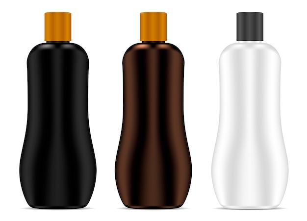 化粧品ボトル日焼け止めクリームパッケージセットベクトル Premiumベクター