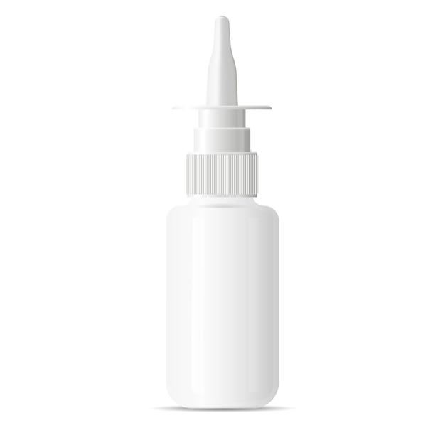 鼻の充血除去剤スプレー医療用ブランクボトル。プラスチック Premiumベクター