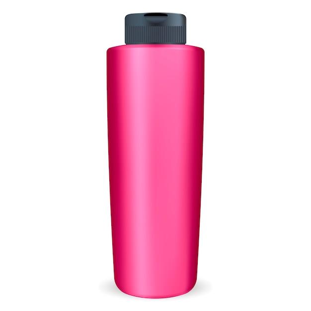 化粧品用シャンプーまたはシャワージェルボトル。 Premiumベクター