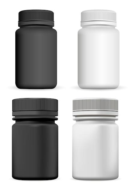 サプリメントボトル。ピルジャー Premiumベクター