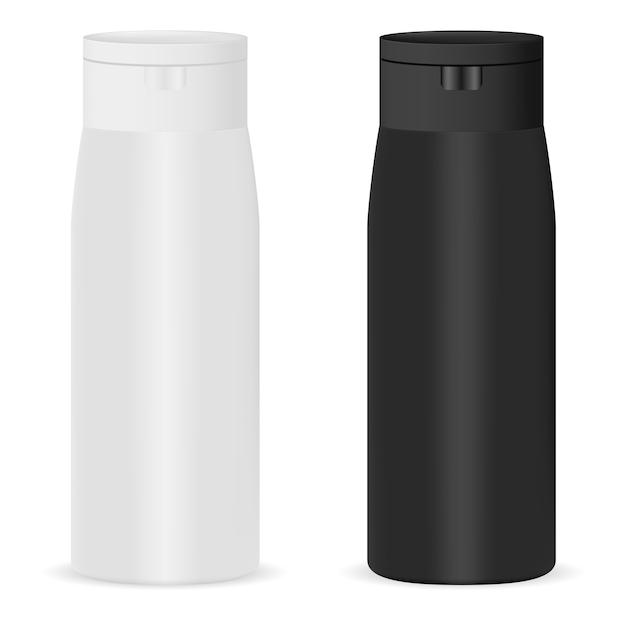 Косметическая бутылка макет Premium векторы