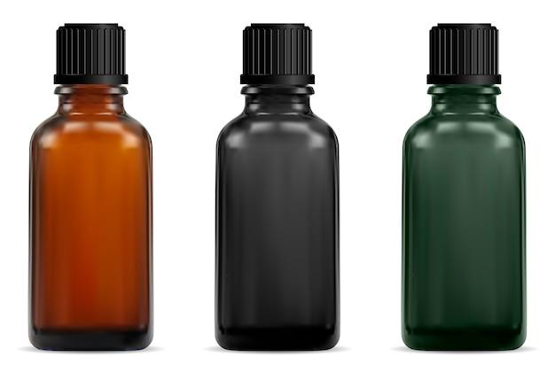 茶色のガラス医療ボトル。薬局シロップ Premiumベクター