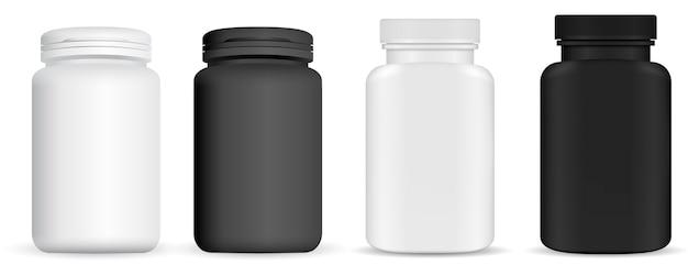 薬の薬瓶。ビタミンパッケージ Premiumベクター