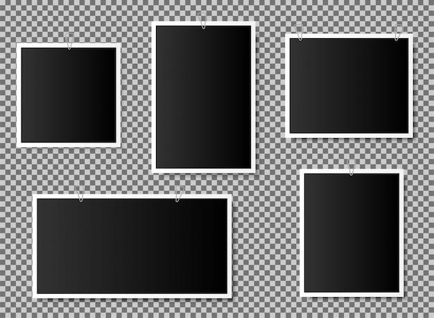 フォトアルバムの写真。分離されたメモリカードフレーム Premiumベクター