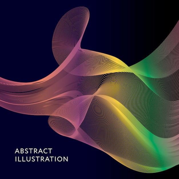 幾何学的抽象イラストの背景ベクトル図形 Premiumベクター