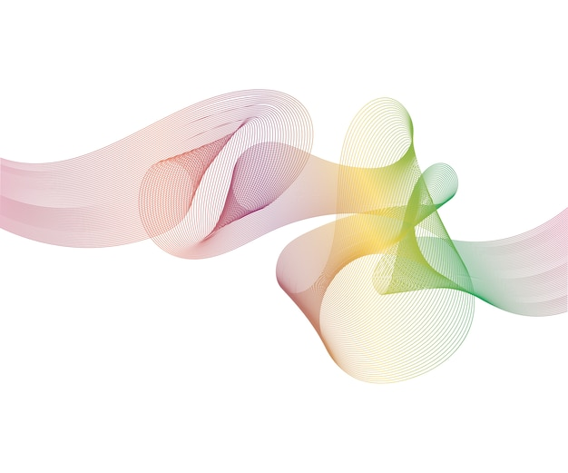 Элегантная скорость футуристический хай-тек галочка волны поток фон. мягкий дым рисунок абстрактный гладкий серый современный мягкий макет. Premium векторы