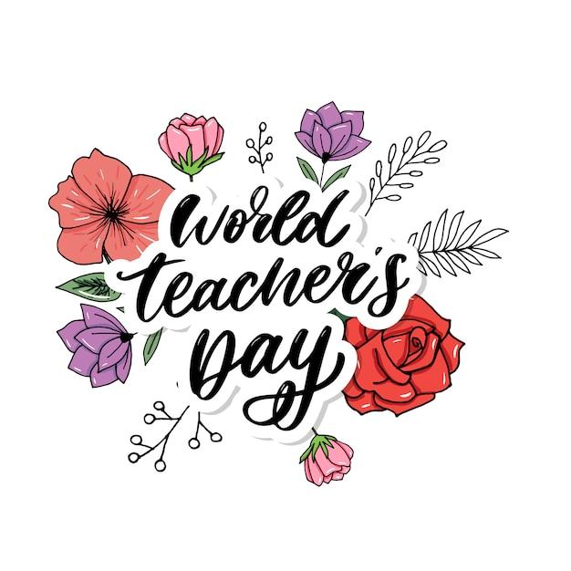 Всемирный день учителя Premium векторы