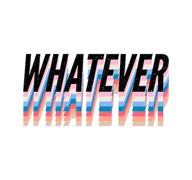 Слоган безотносительно фразы графический вектор печать мода каллиграфия надписи Premium векторы