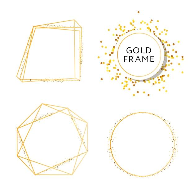 デザインゴールドファッションベクターアートとバナー Premiumベクター