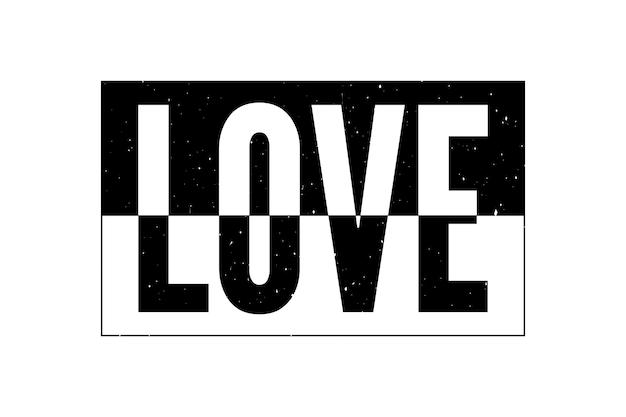 現代のファッションスローガンを描く愛タイポグラフィスローガン Premiumベクター