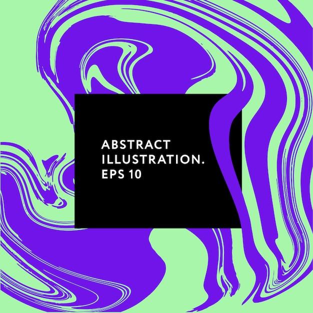 流体アートメンフィスヒップスターグリッチ要素イラストグラフィック Premiumベクター