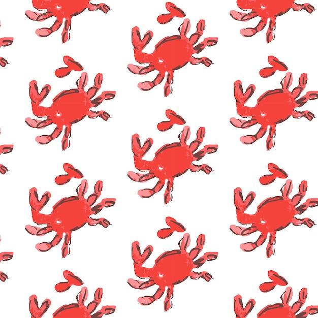 Ракушки шаблон иллюстрации. морской фон. Premium векторы