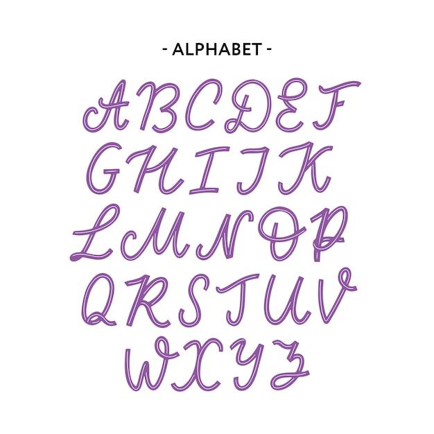 文字体裁アルファベットフォント Premiumベクター