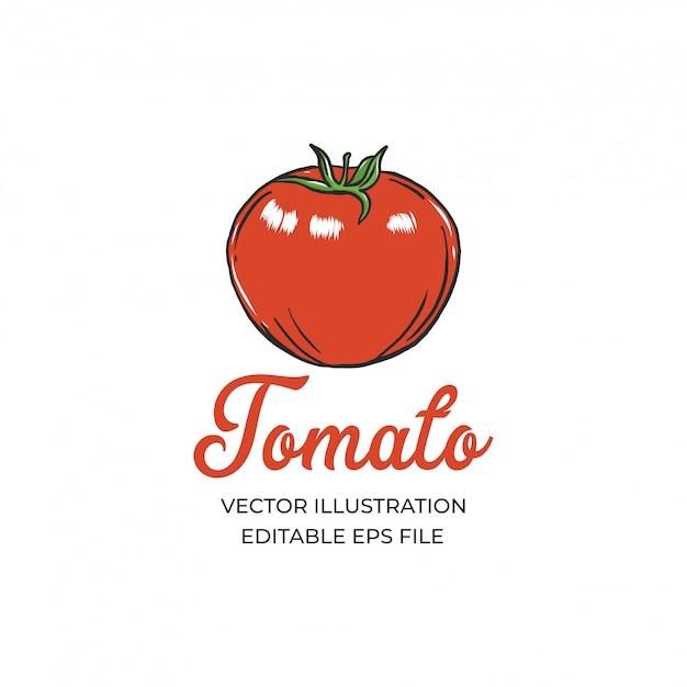 Томатный логотип Premium векторы