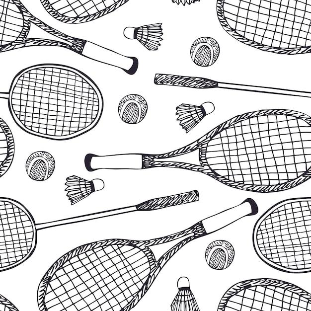 バドミントンとテニス 無料ベクター
