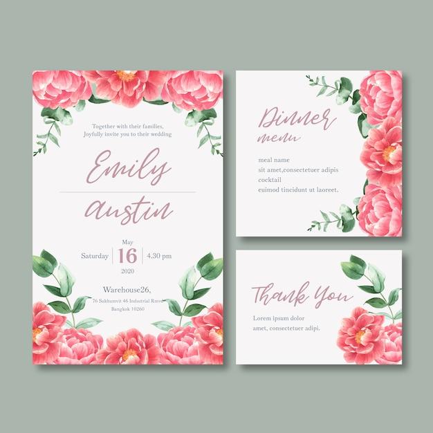 Свадебный прием цветы с пастельной листвой Бесплатные векторы