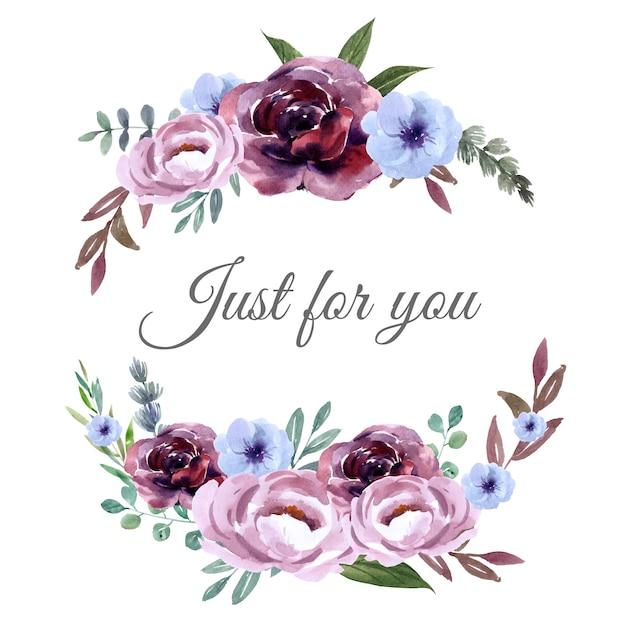 ユニークなカバーデコレーション、エキゾチックなストロークの花の花束 無料ベクター