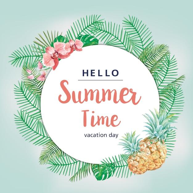 Летняя праздничная открытка Бесплатные векторы