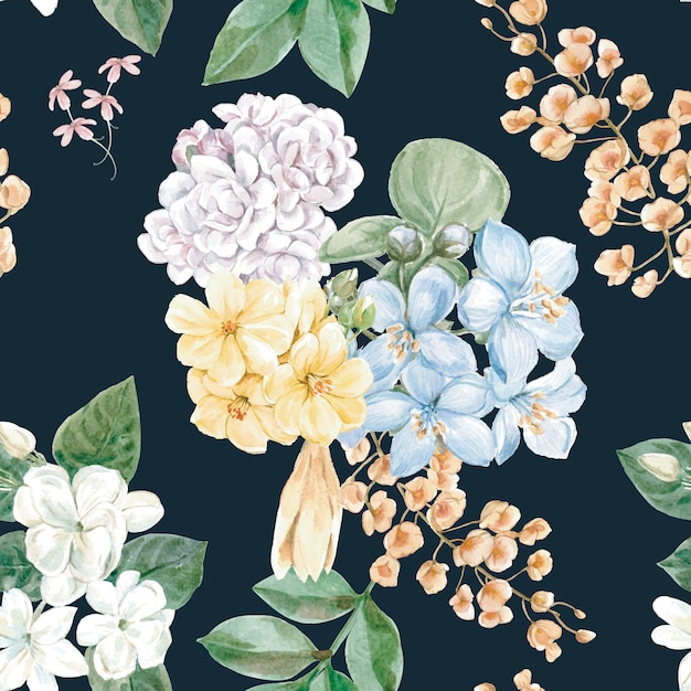 花の背景 無料ベクター