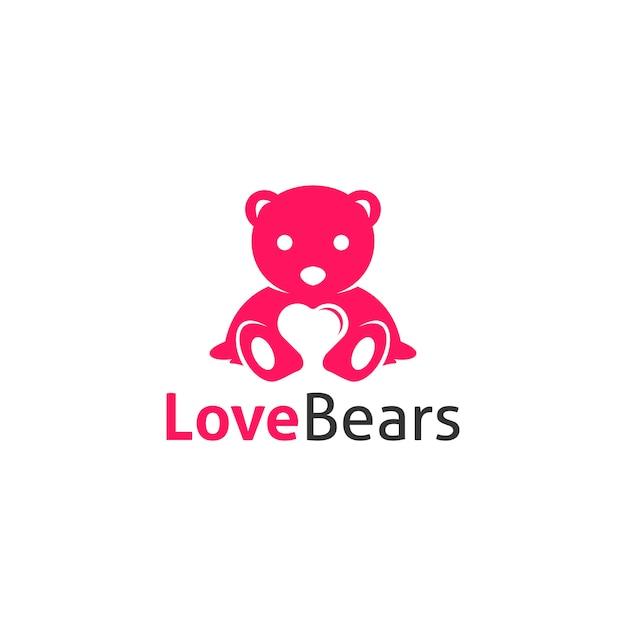 Любовь несет логотип Premium векторы