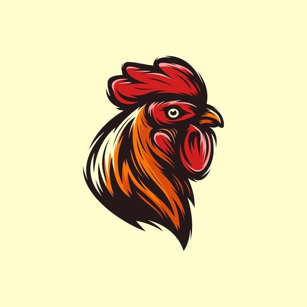 ヘッドオンドリのロゴのテンプレートベクトル Premiumベクター