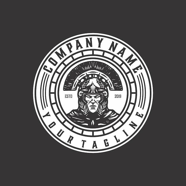 スパルタ怒っているロゴのテンプレートベクトル Premiumベクター