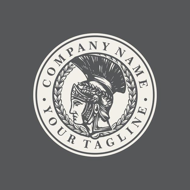 スパルタの古いロゴのテンプレートベクトル Premiumベクター
